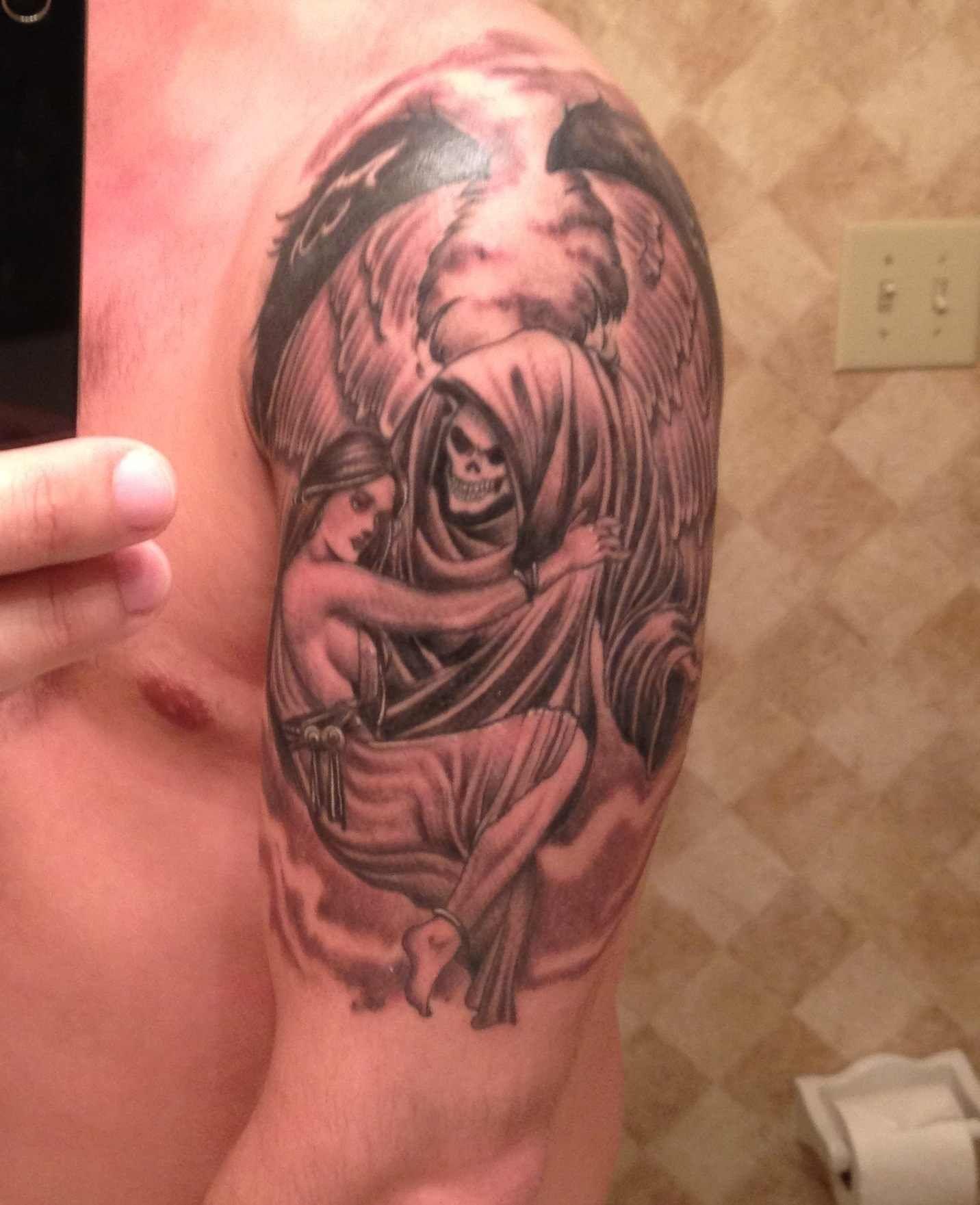 Female Grim Reaper Tattoos : female, reaper, tattoos, Female, Reaper, Tattoos, Images, Tattoo,, Reaper,, Tattoo