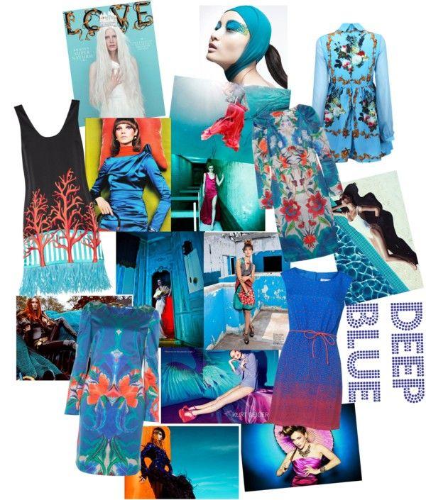 """deep blue"" by rupniczek on Polyvore"