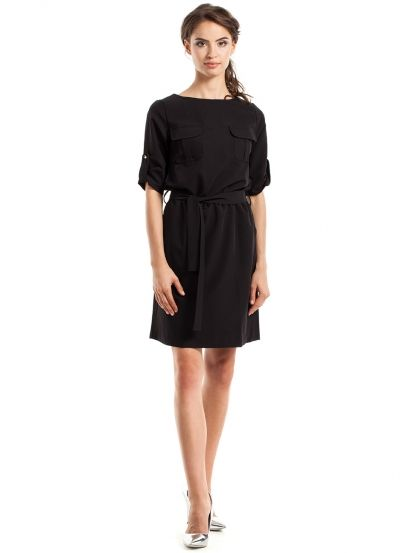 Dámske Šaty STYLOVE  dress  black  everyday dress  fashion  women fashion   pocket 66cbf367b37
