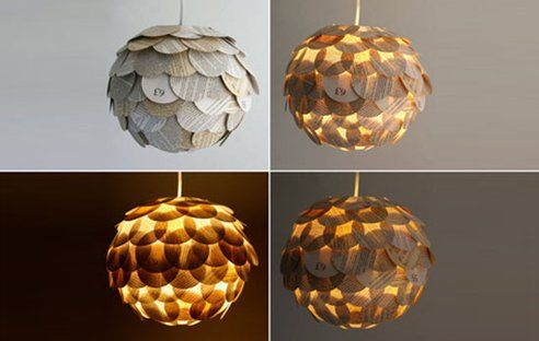 Glowing Artichoke Lamps, Made From Recycled Book Pages
