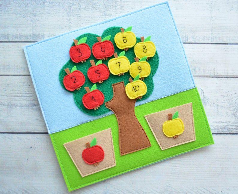 Photo of Juguete para bebés Montessori Quiet Libro para niños pequeños Página Tarjeta sensorial Juguete ecológico Una página 1-4 años