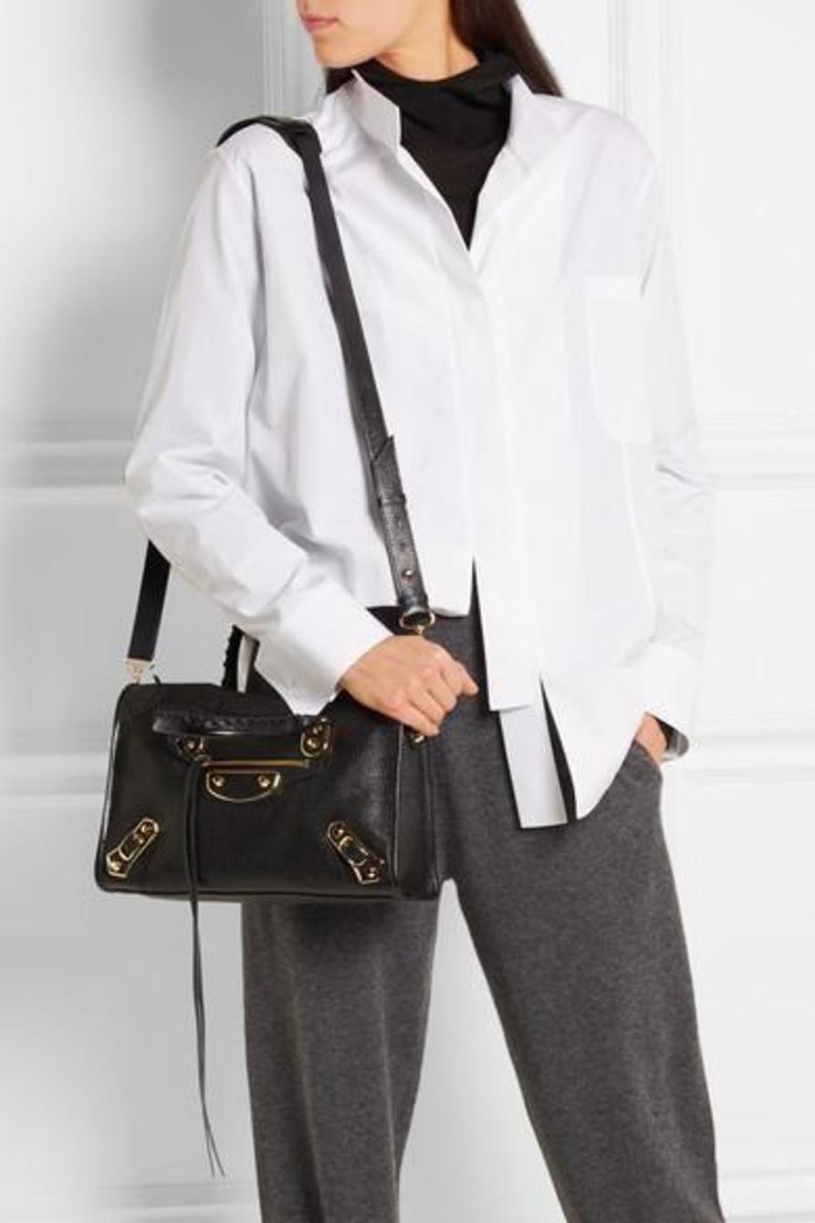 Balenciaga Metallic Edge City small textured-leather shoulder bag photo  7 923d6785f5