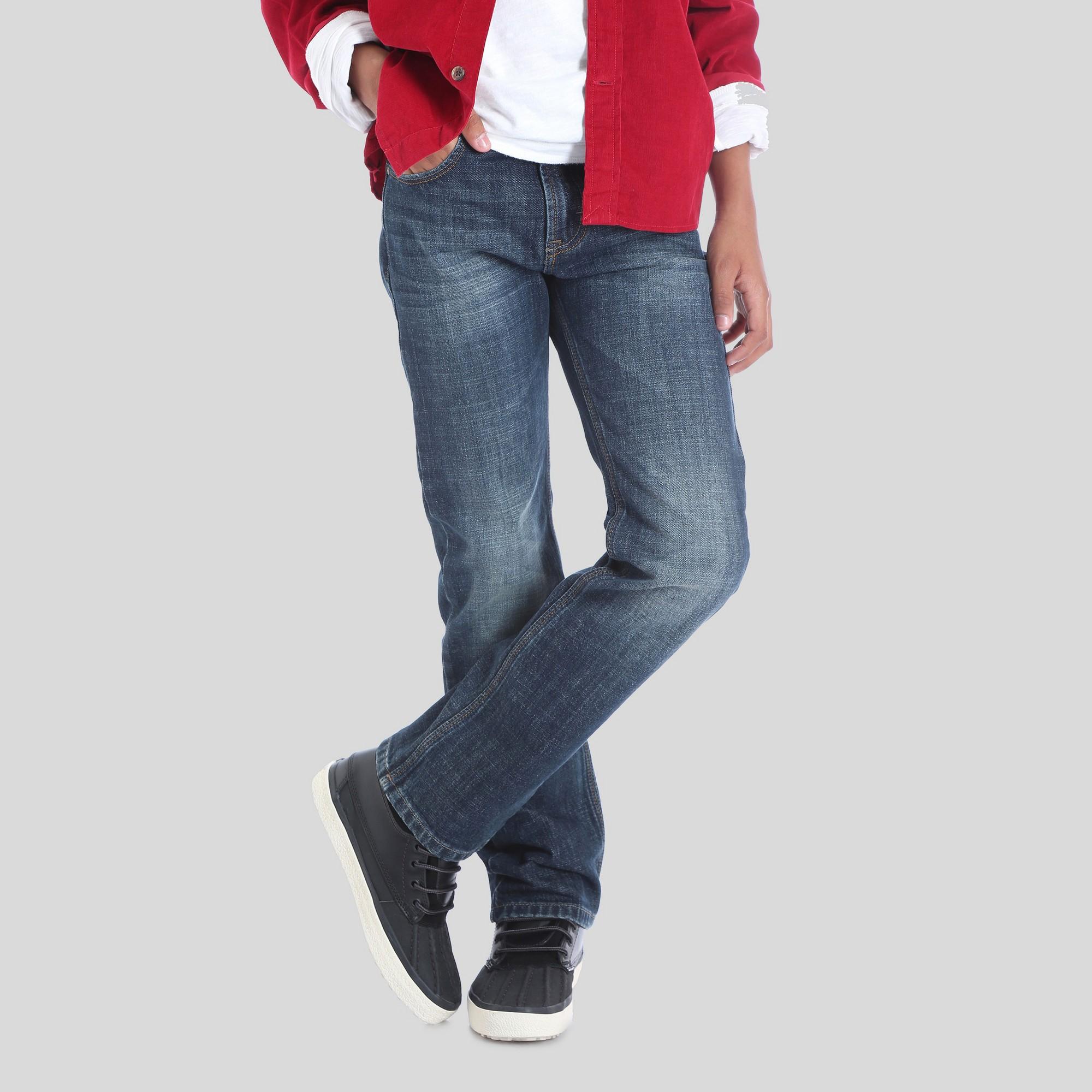 2a12da2ba Wrangler Boys' 5pkt Dusky Straight Fit Jeans - Dark Blue 14 ...