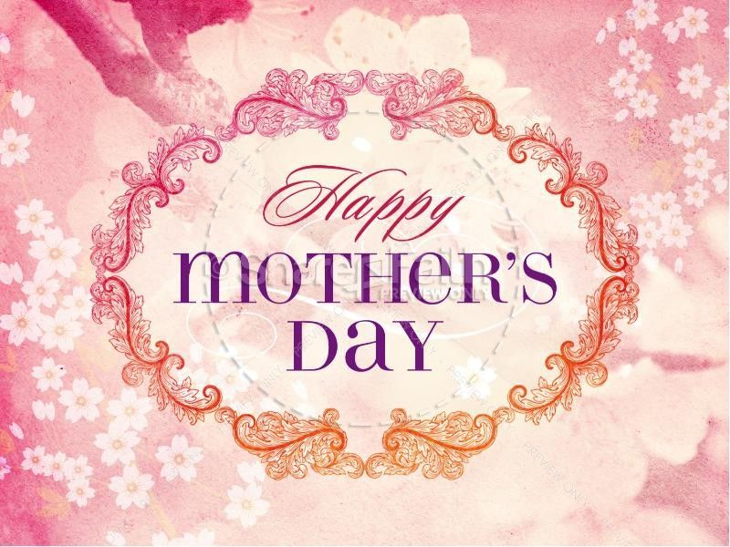 Happy MotherS Day Christian Powerpoint Template  Template