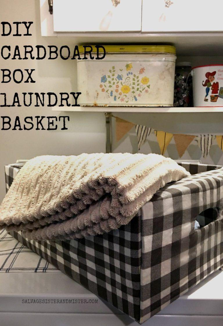 Diy Cardboard Box Laundry Basket Diy Laundry Basket Diy