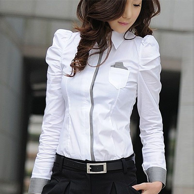 1300e77188 Details about Women Business OL Lace Floral Formal Office Tops Lady ...
