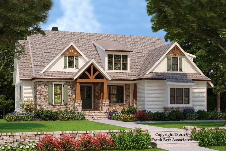 House Plan 8594 00006 Craftsman Plan 2 601 Square Feet 4 Bedrooms 3 5 Bathrooms Craftsman House Plans Craftsman House Country Style House Plans