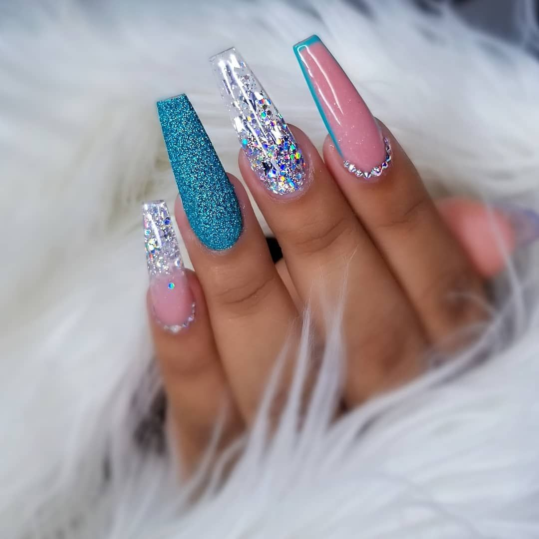 Have You Seen My Sugar Nail Butterfly Mimi Tutorial Check Them Out Using Silver Holo Vn Produ Long Acrylic Nails Swag Nails Coffin Nails Designs