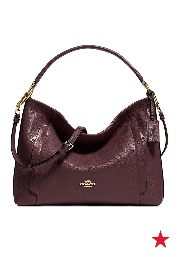 8cff557f05 This beautiful oxblood hobo bag has us sooo excited for the start of Fall!