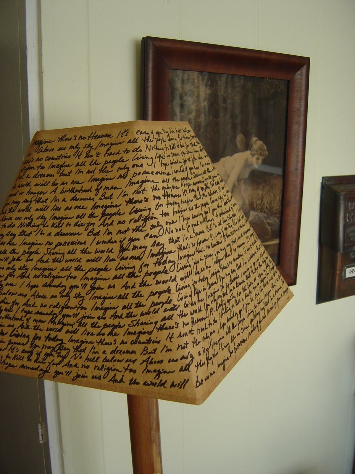 Cheap Lamp Shades Fair Custom Lamp Shade On The Cheap  Sallygoodin  Use The Lyrics Of A Inspiration Design