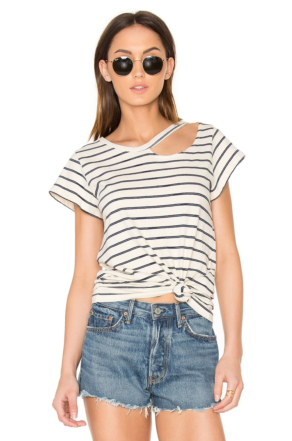 4a79d3a178 LNA Stripe Desert Tee. #lna #cloth # | Lna | Navy stripes, Striped ...
