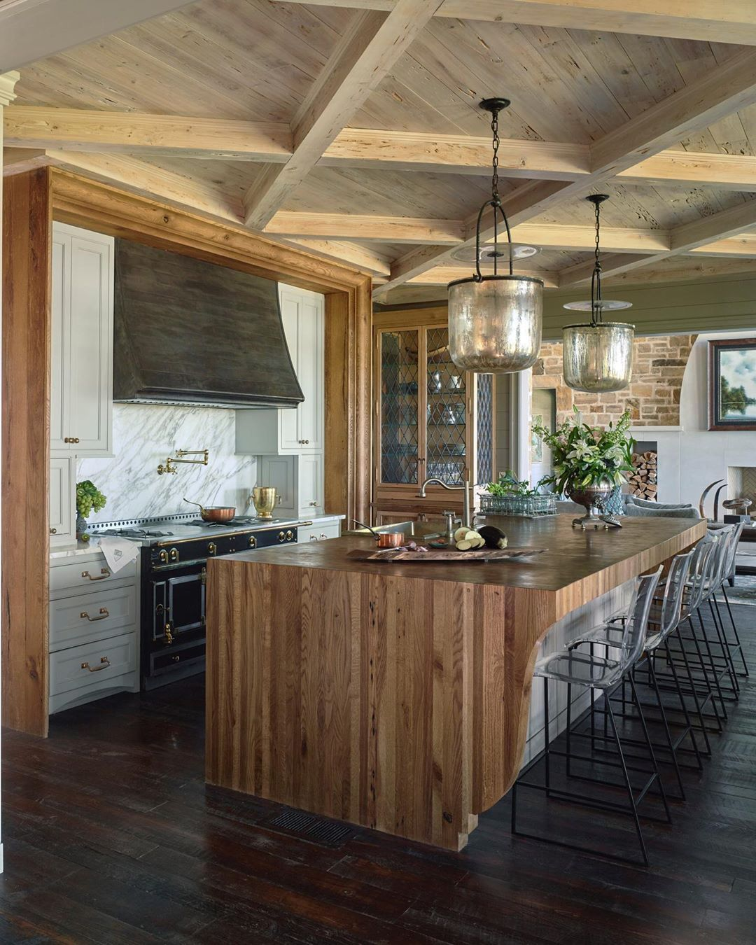 Francis Bryant Construction On Instagram What S Not To Love About This Kitchen From The Pecky Cypress Ceiling To In 2020 Pecky Cypress Kitchen Custom Butcher Block
