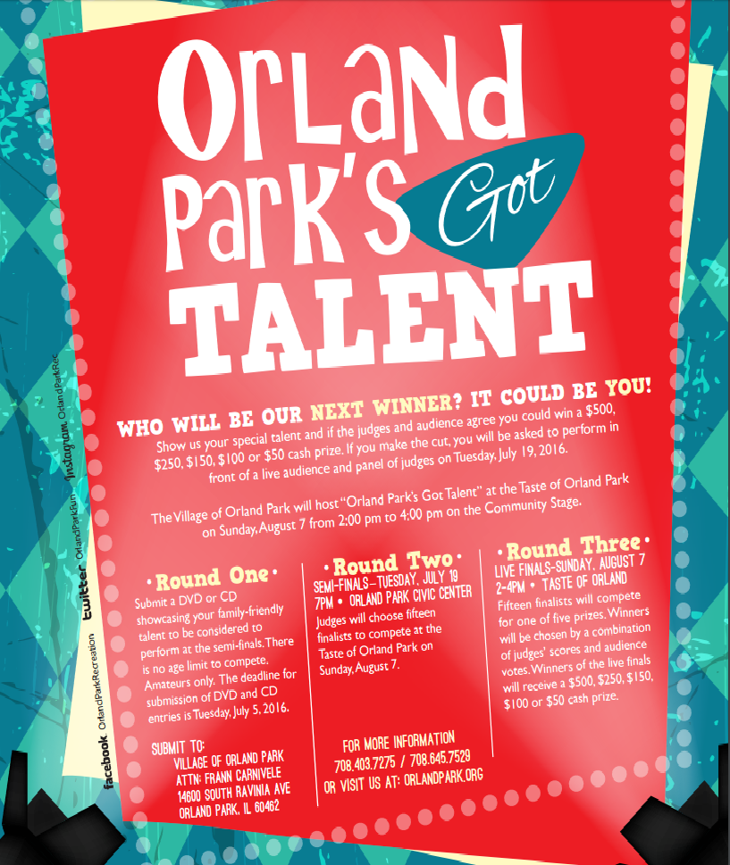 Day 3 Of The Taste Of Orland Features The Always Entertaining Orland Park S Got Talent Show Showcase Your Talent And Got Talent Show Talent Show Orland Park
