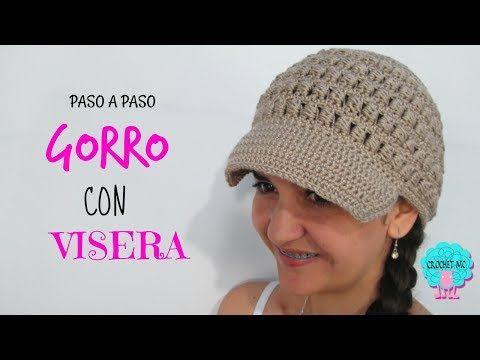 Tutorial gorro con visera a crochet en todas las tallas - YouTube ... 1da49a6f157