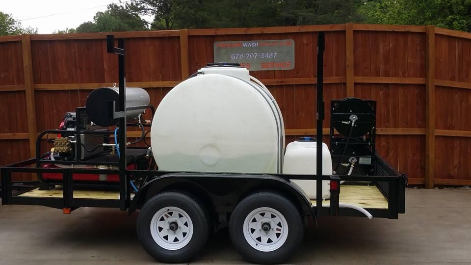 7835 02 5 5 Gpm Pressure Wash Hot Water Trailer 6 X 14 Dual Axle Pressure Washing Pressure Washing Business Hot Water