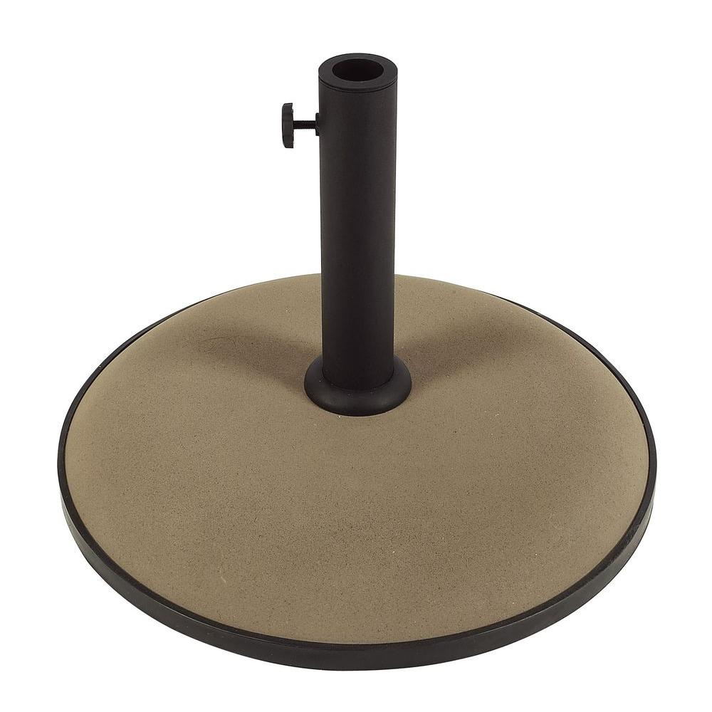 Fiberbuilt Umbrellas 55 lb. Concrete Patio Umbrella Base in Black #outdoorumbrellastand