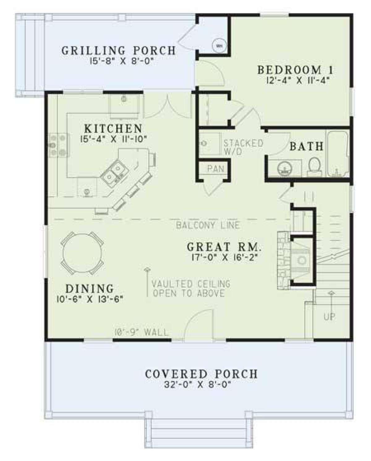 House Plan 11000311 Cottage Plan 1,400 Square Feet, 2