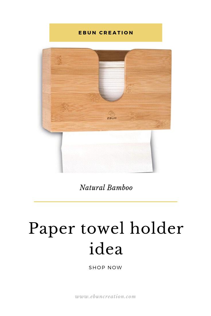 Ebun Bamboo Paper Towel Dispenser Paper Towel Holder Paper