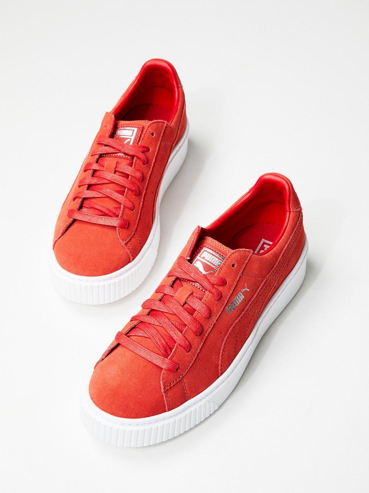 Suede Platform Sneaker  a9921ce09