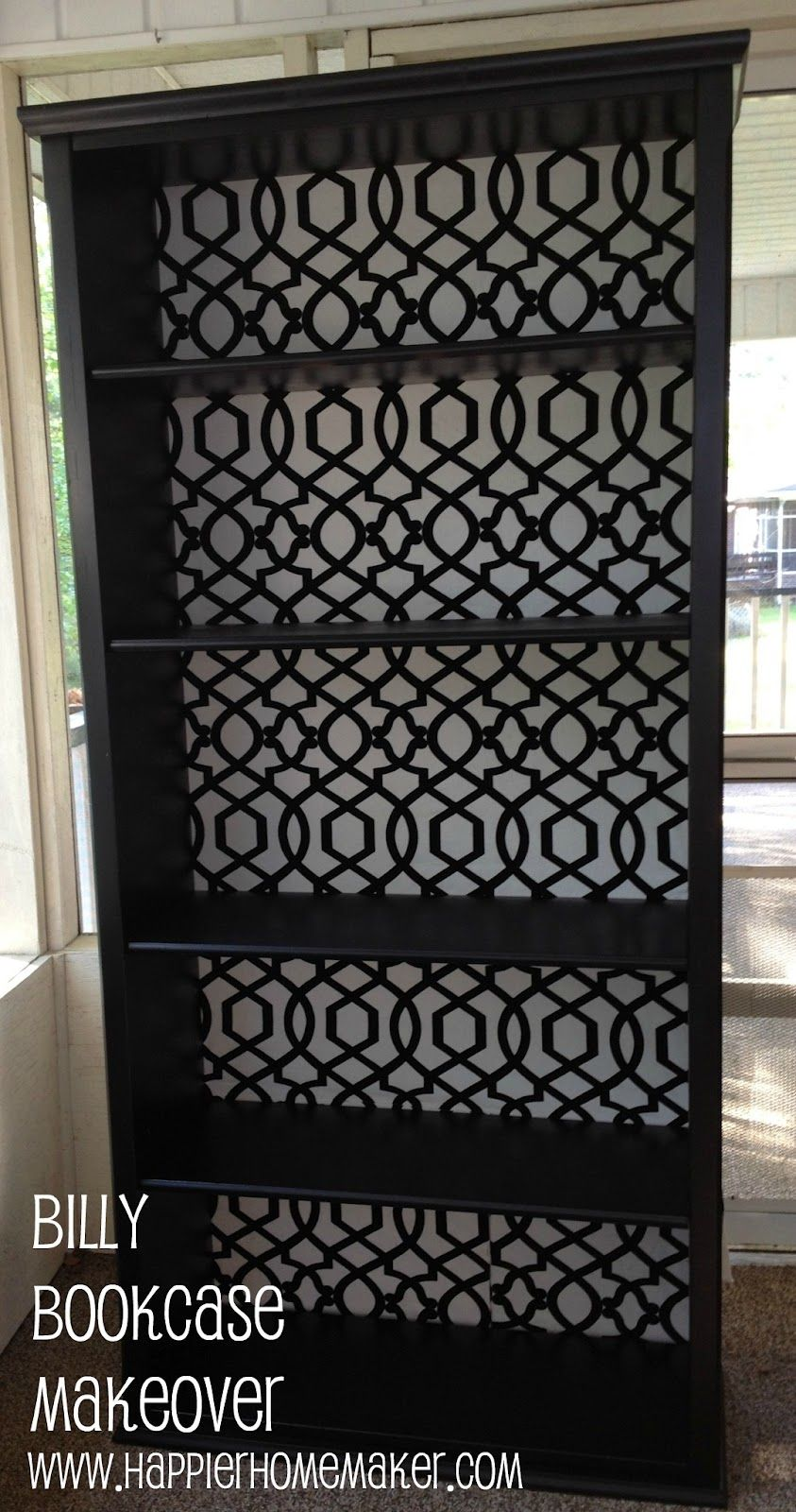 Ikea Billy Bookcase Makeover Office Bookcase Makeover