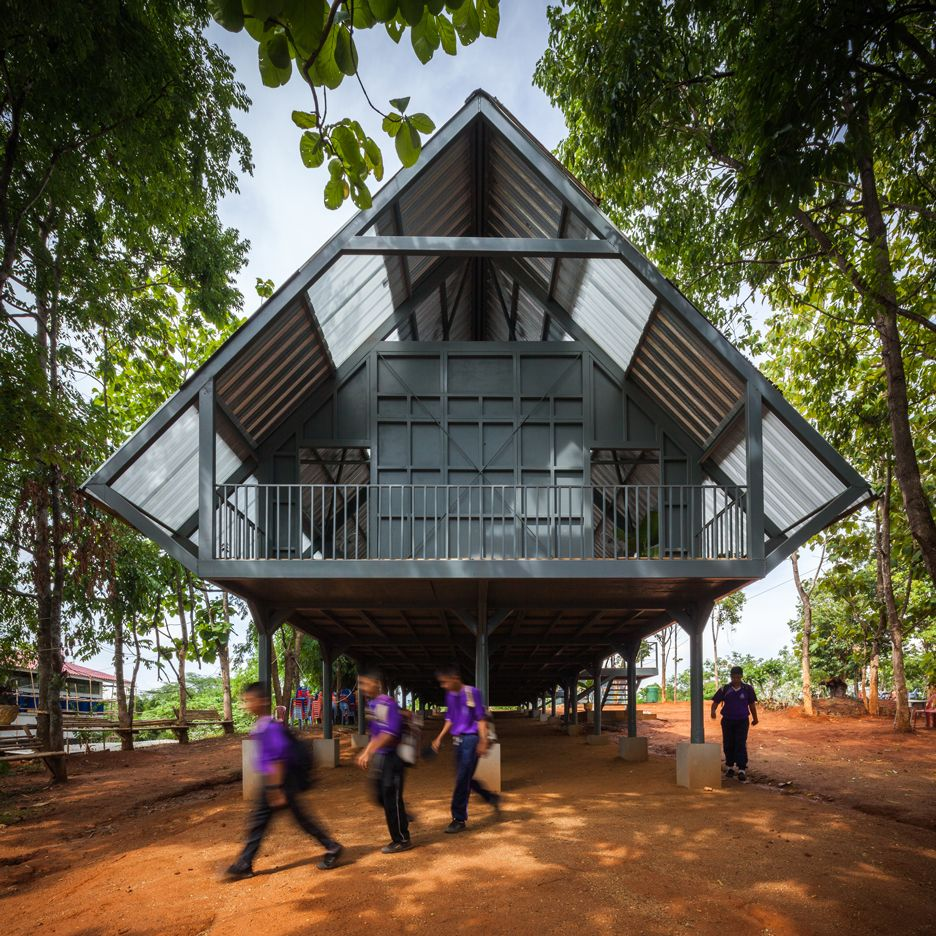 Thailand Architecture: Built In The Wake Of An Earthquake, This Secondary School
