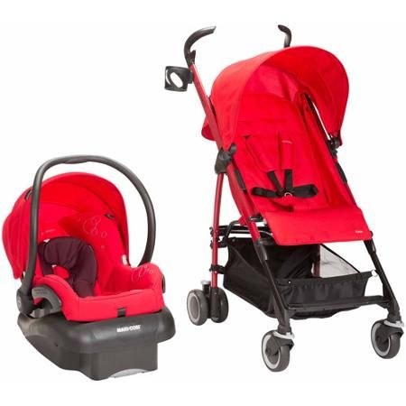 Maxi Cosi Kaia/Mico Nxt 3-in-1 Travel System, Intense Red - Walmart.com