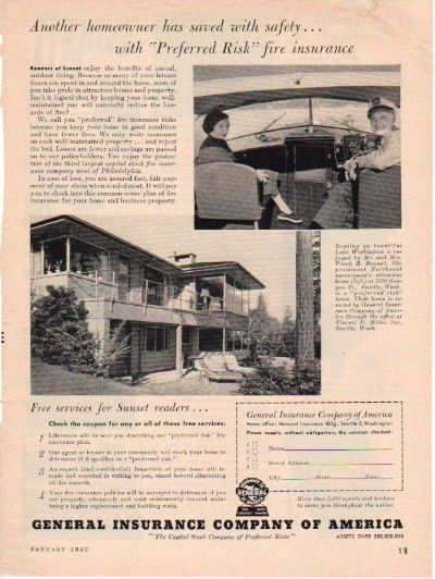 1953 General Insurance Company Of America Ad America Medical
