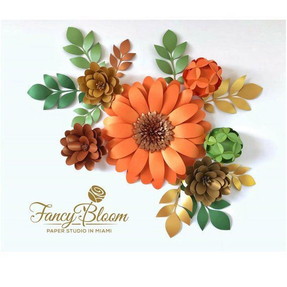 Paper Flower Backdrop / Giant Paper Flowers / Large Paper Flowers / Paper Flower Set / Thanksgiving Decorations / Fancybloom / Fancy Bloom #largepaperflowers