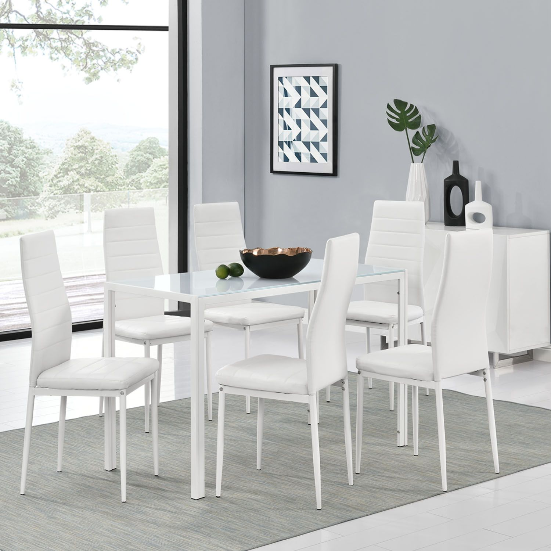weiße esstisch stühle