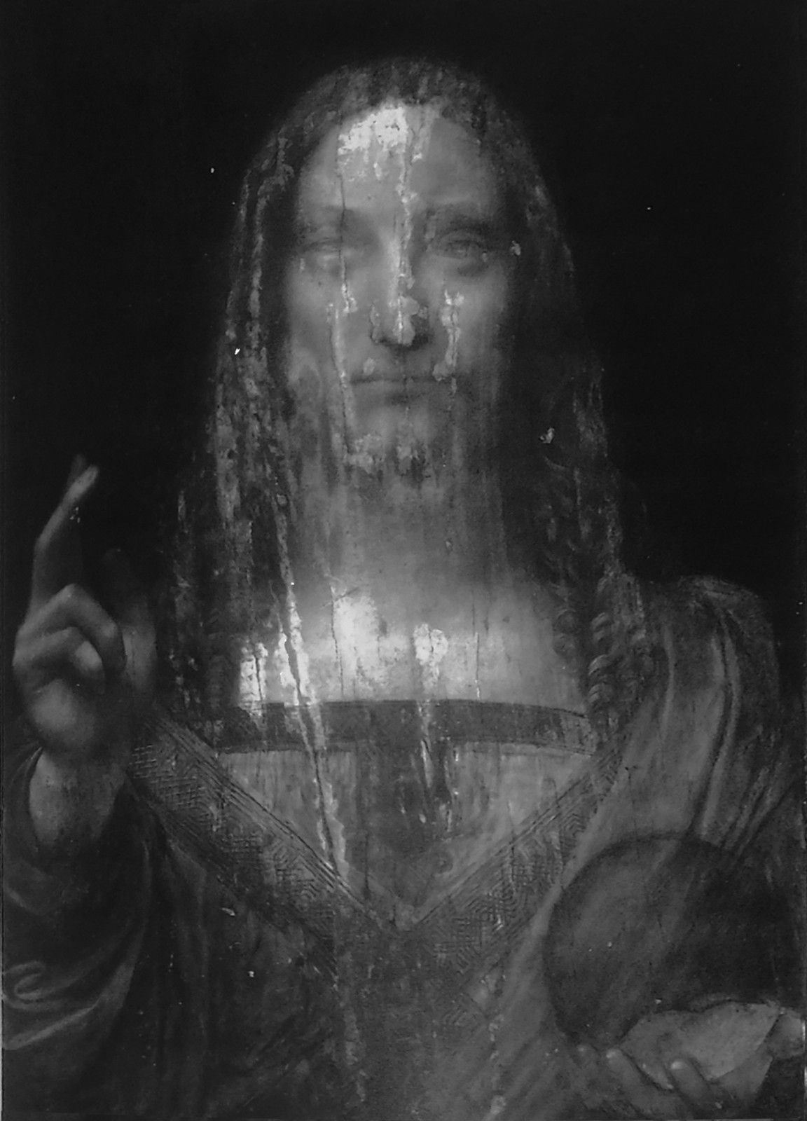 Leonardo Da Vinci, Salvator Mundi, Infra-Red Reflectography
