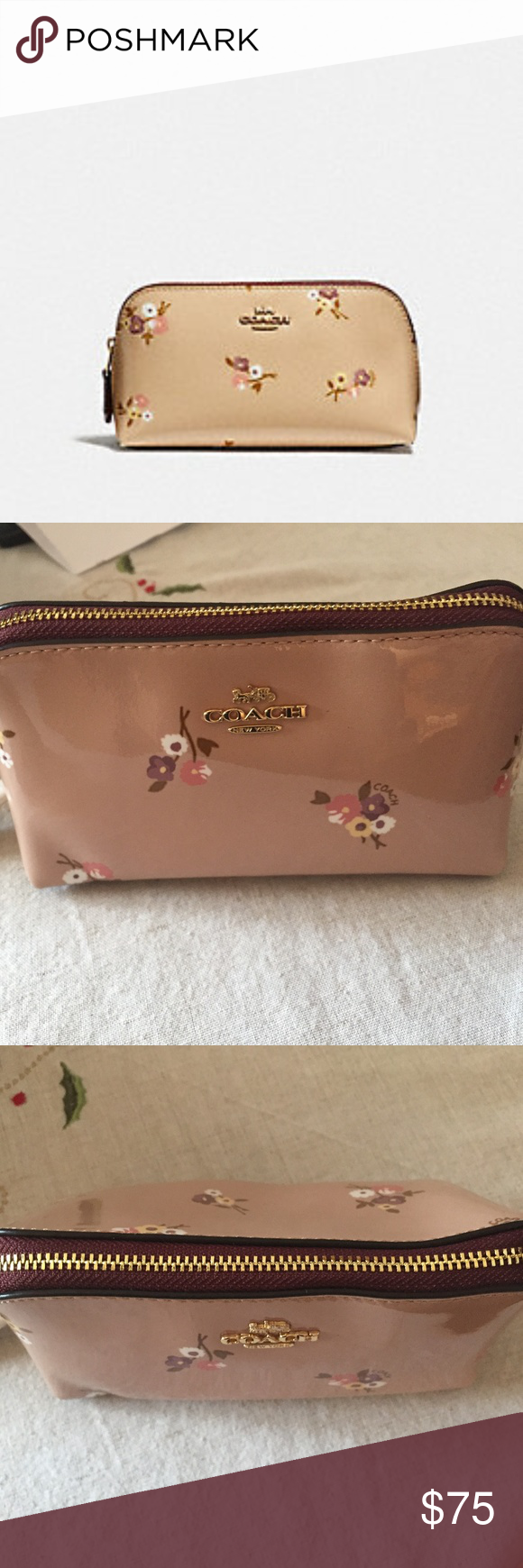 57a8de34ed57 Coach Cosmetic Case 17 with Baby Bouquet This is an absolutely stunning  (too pretty for