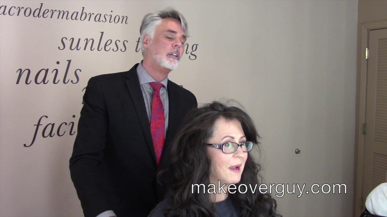 dramatic long hair cut short makeover by christopher makeover my husband likes my long hair by christopher