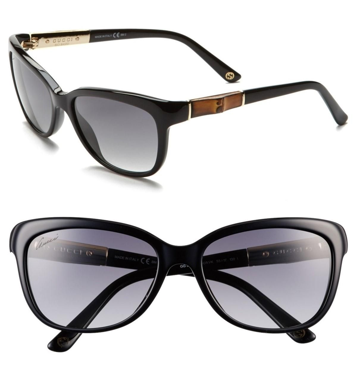 54de06543b Free shipping and guaranteed authenticity on NEW Gucci Bamboo Temple  Sunglasses