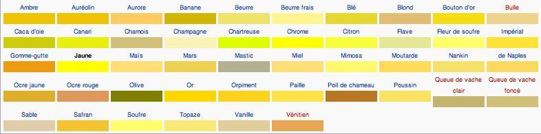 Résultat De Recherche Dimages Pour Palette De Couleur Jaune