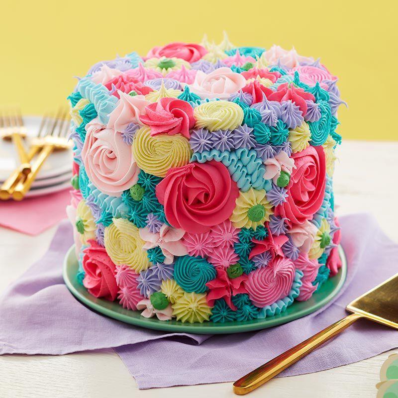 Floral Spring Cake Recipe Cake Designs Cake Decorating Techniques Spring Cake