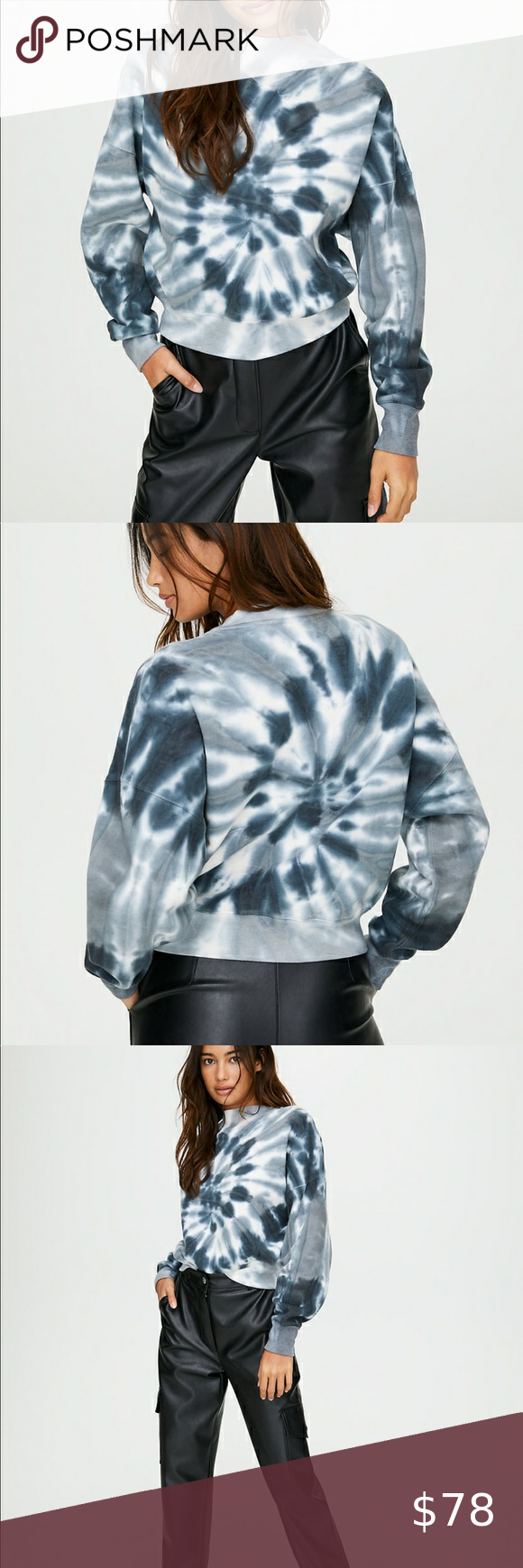Nwot Wilfred Aritzia Katy Tie Dye Sweater Tie Dye Sweater Tie Dye Clothes Design [ 1740 x 580 Pixel ]