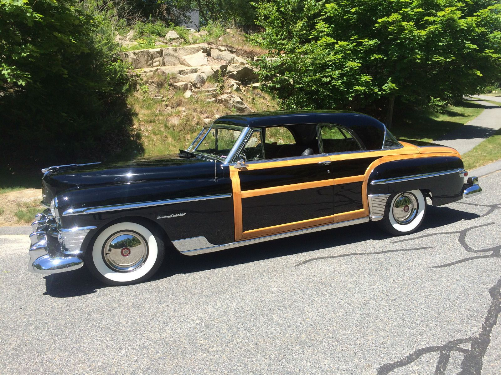 Car brand auctioned chrysler town country 1950 car model chrysler town country