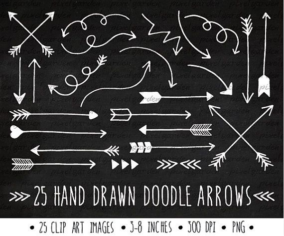 White Arrows Clip Art Set Hand Drawn Arrows Clipart Etsy In 2021 How To Draw Hands Thanksgiving Clip Art Hand Drawn Arrows