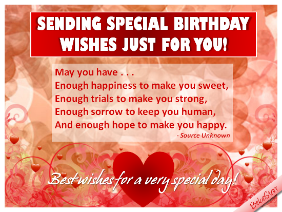 A romantic birthday ecard for your sweetheart See all my ecards – How to Send Birthday Greetings