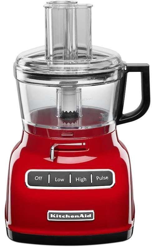 KitchenAid KFP0722 ExactSlice 7-Cup Food Processor, Grey - kitchenaid küchenmaschine artisan rot