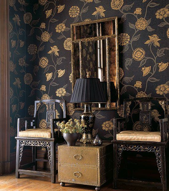Mazu Wallpaper In Black From Tone On Tone Resource Vol Ii By