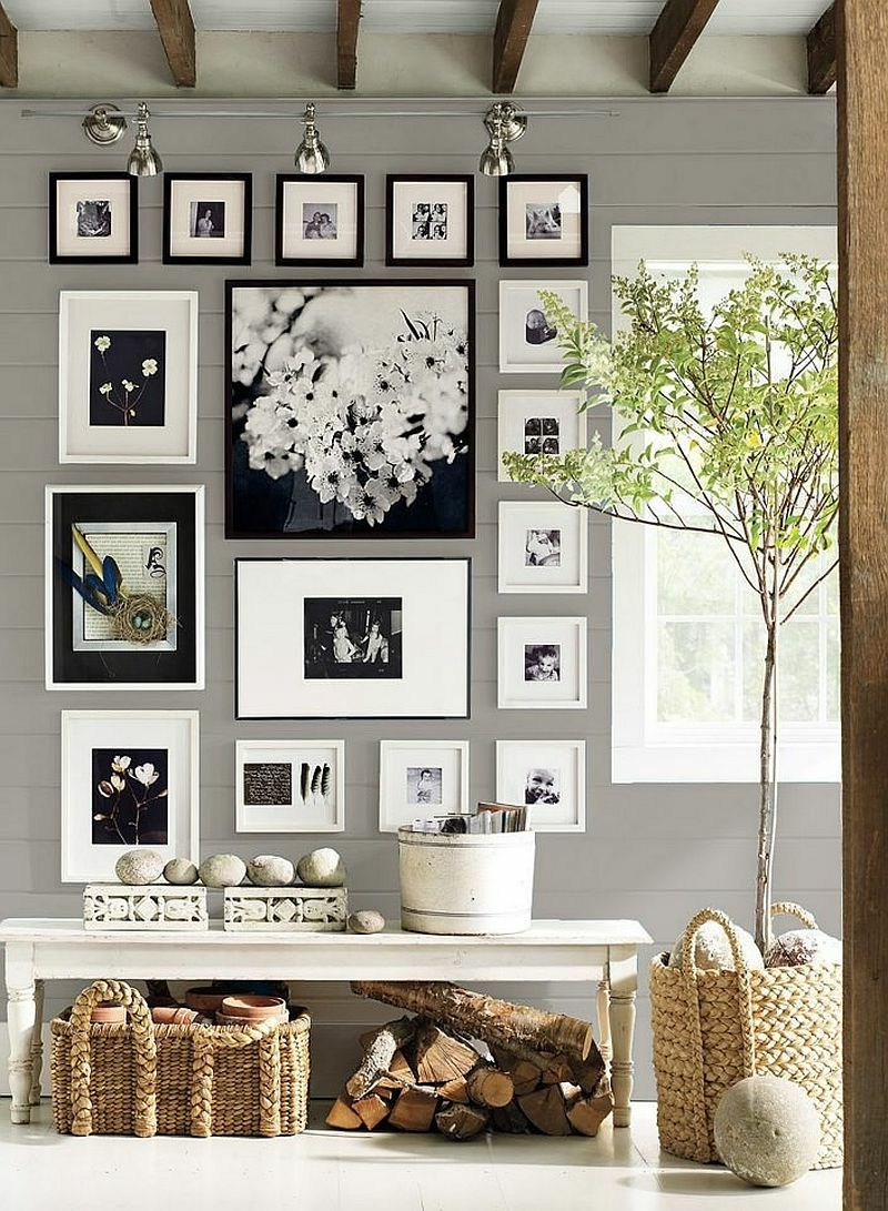 fotowand zu hause gestalten tipps und 25 kreative ideen deko ideen decoration pinterest. Black Bedroom Furniture Sets. Home Design Ideas