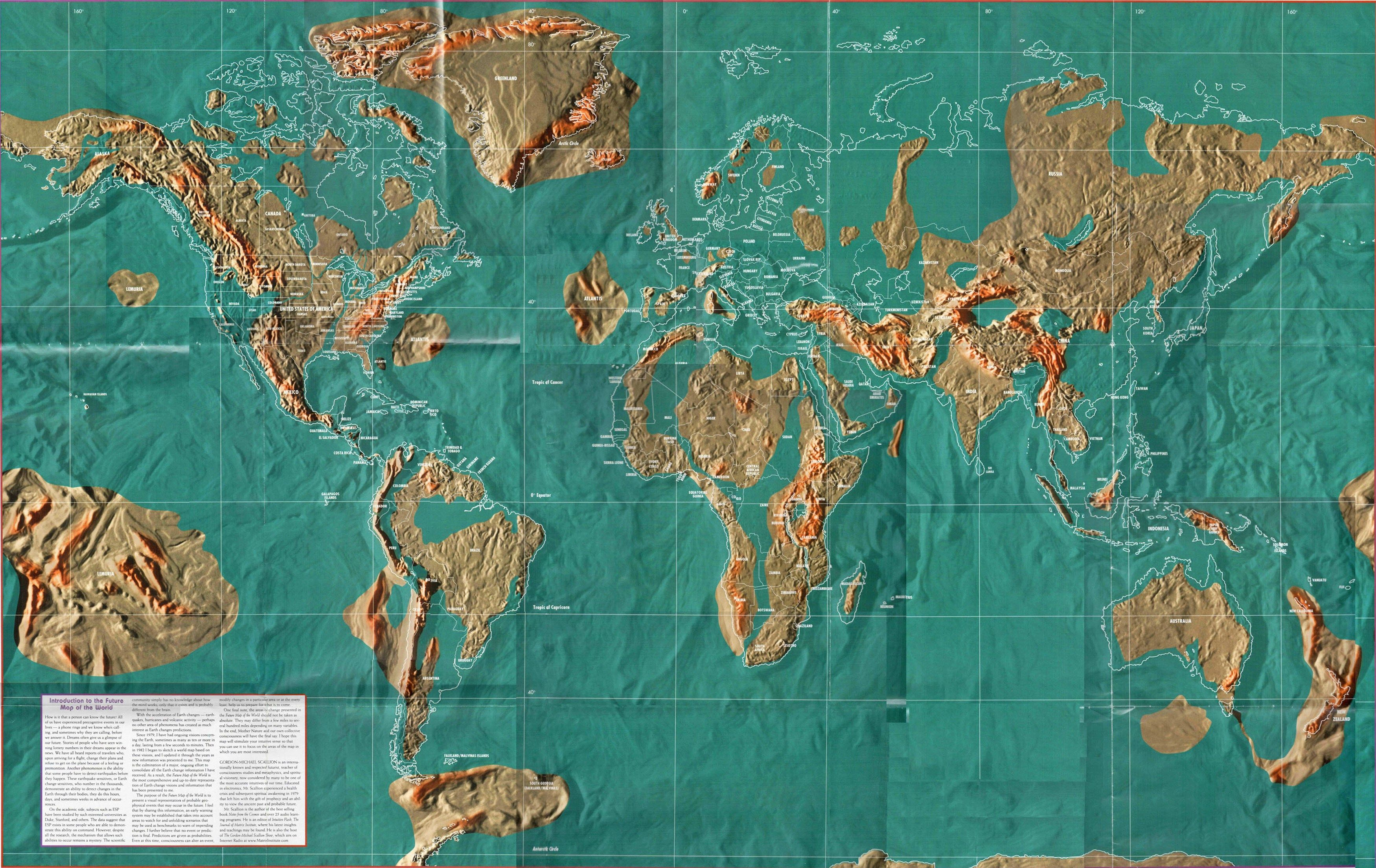 Gordon Michael Scallion Ist Ein International Bekannter Und Respektierter Zukunftsforscher Lehrer Im Bereich Von Bewusstseinss Fantasie Karte Weltkarte Karten