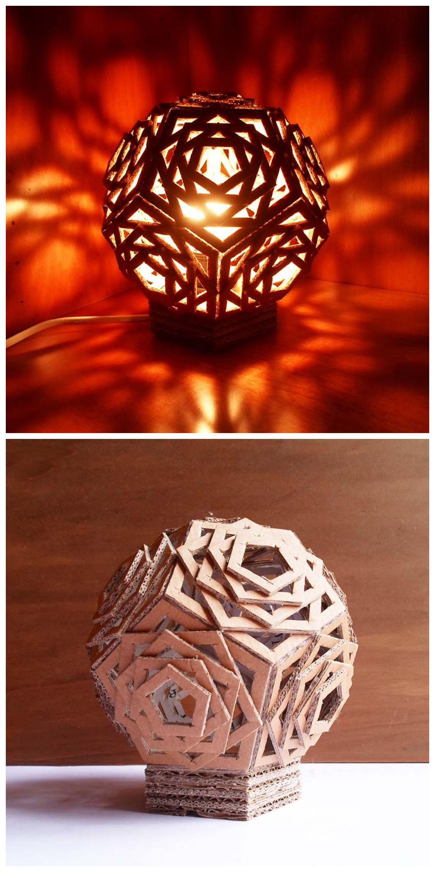 Una Lampara Geometrica Que Puedes Combinar En Tu Decoracion Con Diferentes Tipos De Luz