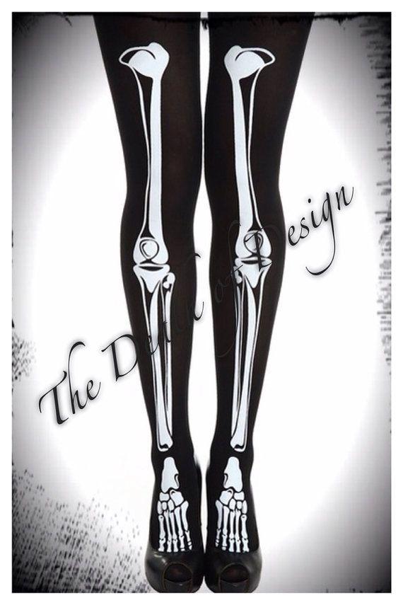 Skeleton Leg Stockingstights Clothes Pinterest Skeletons