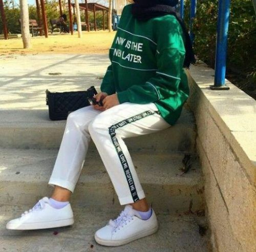 Sweatpants sporty hijab style