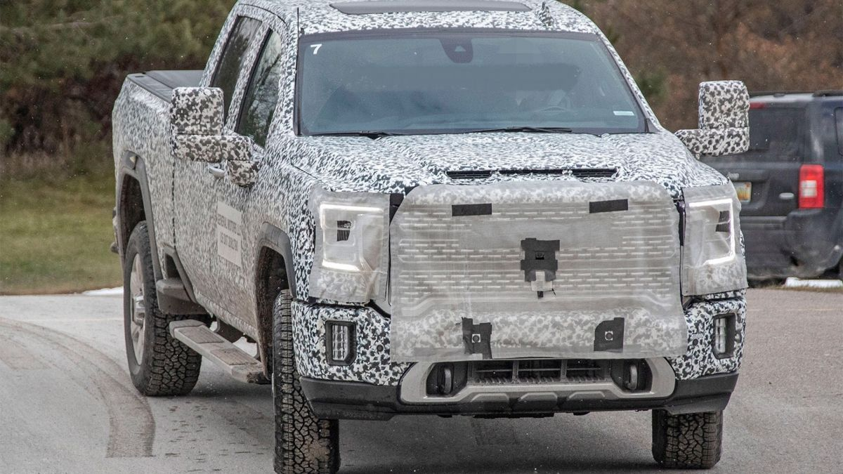 2021 Gmc Sierra 2500hd Spy Photos First Impressions In 2020 Gmc