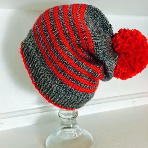 Knitted Beanie «Cuore»/For women or men... Gorro tejido «Corazón ...