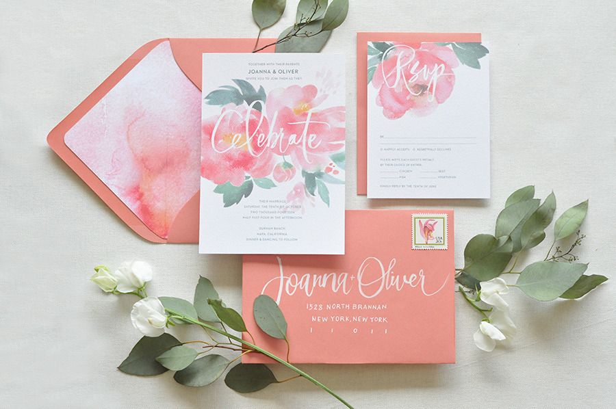 Wedding stationery from Julie Song Ink