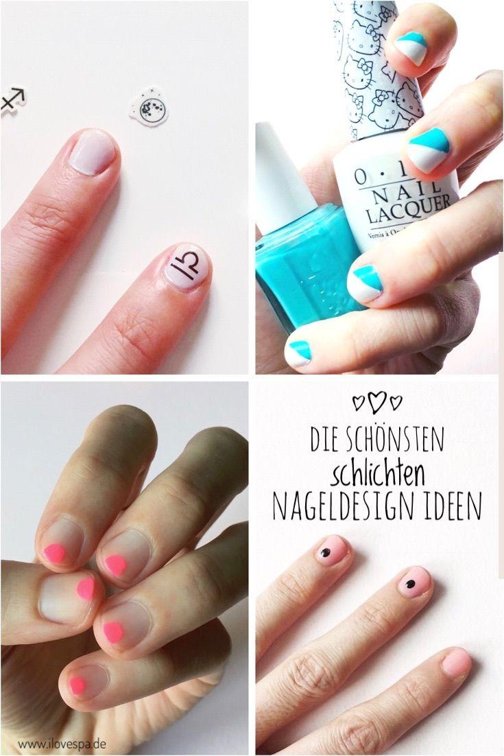 Die Schonsten Minimal Manicure Ideen Fur Kurze Nagel Nageldesign